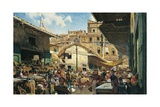 Old Market in Florence, 1882-1883 Giclee Print by Telemaco Signorini