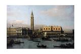 Piazetta and Riva Degli Schiavoni in Venice by Antonio Canaletto Giclee Print by  Canaletto