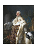 Louis XVI in His Coronation Robes Giclee Print by Antoine Francois Callet