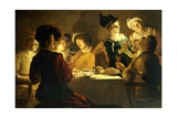Feast with a Lute Player, Ca 1620 Giclee Print by Gerrit van Honthorst