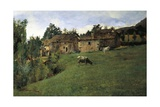 Pasture in Pietramala, 1889 Giclee Print by Telemaco Signorini
