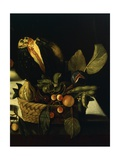 Still Life with Flowers and Fruit Giclée-tryk af Caravaggio