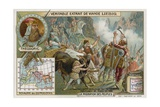 The Ostrogoths, Led by their King Theodoric, Crossing the Alps, 489 Giclee Print