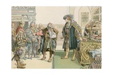 Joachim I's Judgment Against the Robber Barons of Lindenberg in 1504 Giclee Print by Carl Rohling