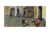 Idle Hours in Riomaggiore, 1892-1894 Impression giclée par Telemaco Signorini