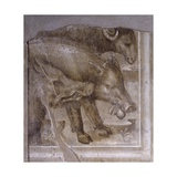 Detail from on Trajan's Column Giclée-tryk af Baldassare Peruzzi