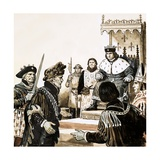 Count Guy De Dampierre Imprisoned by King Philip of France Giclee Print by Kenneth John Petts