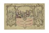 Facsimile Reproduction of the First Christmas Card Impression giclée par John Callcott Horsley