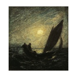 With Sloping Mast and Sinking Prow, 1880-1885 Giclee Print by Albert Pinkham Ryder