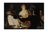 The Debauched Student, 1625 Giclee Print by Gerrit van Honthorst