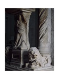 Detail of Tomb of Catherine of Austria, 1323 Ca Giclee Print by Tino da Camaino