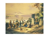 View of Naples from Posillipo Giclee Print by Consalvo Carelli