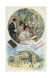 Enjoying Suchard Chocolate at the Opera or Theatre Giclee Print