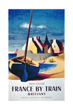 Discover France by Train, Brittany', French National Railroads Giclee Print
