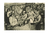 Viennese Humour in a Camp of Reservists in the Carpathian Mountains Giclee Print by Wilhelm Gause
