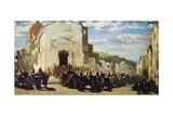 Tuscan Artillery in Montechiaro Giclee Print by Telemaco Signorini
