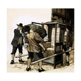 Sir Edmond Berry Godfrey's Body Is Smuggled Out in a Sedan-Chair Giclee Print by Kenneth John Petts