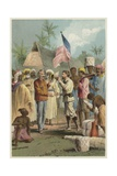 The Meeting of Henry Morton Stanley and David Livingstone Giclee Print