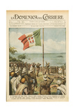 Front Page of 'La Domenica Del Corriere', 26th April 1936 Giclée-tryk