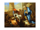 Tobit Burying the Dead in Defiance of the Orders of Sennacherib Giclee Print by Giovanni Francesco Castiglione