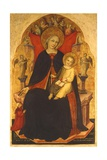Enthroned Madonna with Child and Devotee Giclee Print by Nicolo di Pietro