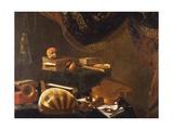Still Life with Musical Instruments, Ca 1650 Giclée-tryk af Evaristo Baschenis