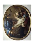 Ecstasy of St. Catherine of Siena, 1743 Giclée-tryk af Pompeo Batoni