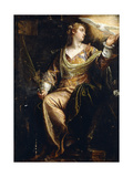 Saint Catherine of Alexandria in Prison, the Holy Ghost Above, C.1580S Giclee Print by Paolo Caliari