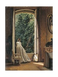 The Window Overlooking Apple Garden Giclee Print by Vito D'ancona