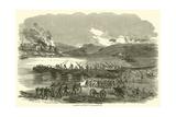 Building the Bridge at Fredericksburg, December 1862 Giclee Print