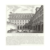 Courtyard of the Madelonnettes Convent, Paris, 1793 Giclee Print