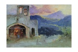 Country Church Near Cava, Ca 1857 Giclee Print by Giacinto Gigante