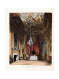 Queen Mary's State Bed-Chamber, Hampton Court, 1819 Giclee Print by George Cattermole