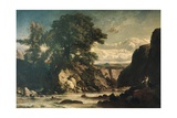Landscape Showing Tobias and Angel Giclee Print by Constant Troyon