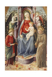 The Madonna and Child with Saints Julian and Francis Giclee Print by Francesco Di Stefano Pesellino