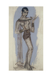 Josephine Baker - a Maquette for an Important Lacquer Panel, C.1927 Giclee Print by Jean Dunand