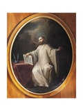 St Bernard of Clairvaux Giclee Print by Miguel Cabrera