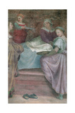 Ladies in Waiting, Detail from the Birth of the Virgin Giclee Print by  Andrea del Sarto