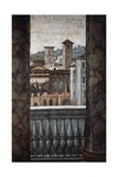 Architectural View, Detail from Frescoes Giclee Print by Baldassarre Peruzzi