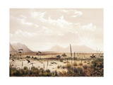 Kangaroo Hunting Near Port Lincoln, Circa 1846 Giclee Print by George French Angas