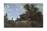 Edge of Woods at Monts-Girard, 1852-1854 Giclee Print by Théodore Rousseau