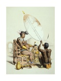 Umpanda, King of the Amazulu, 1849 Giclee Print by George French Angas
