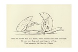 There Was an Old Man in a Marsh, Whose Manners Were Futile and Harsh Giclée-Druck von Edward Lear