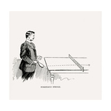 Diagram Showing How to Execute the Perfect Forehand Stroke, 1902 Giclee Print