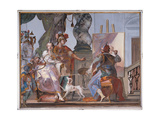 Alexander Watches Apelles Painting Campaspe, 1752 - 1758 Giclee Print by Giovanni Battista Crosato