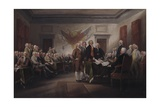 The Declaration of Independence, July 4, 1776, 1817 Giclee Print by John Trumbull