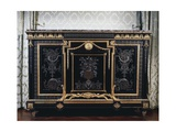 Ebony Commode with Metal Inlays Giclee Print by Andre-charles Boulle
