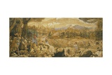 Hunting Scene with Imaginary Florence Giclee Print by Federico Zuccaro
