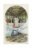 Drinking Suchard Cocoa in the Dining Car of a Train Giclee Print