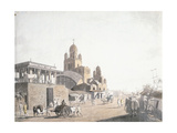 Street Scene, from 'Views in Calcutta', 1786-1788 Giclee Print by Thomas Daniell